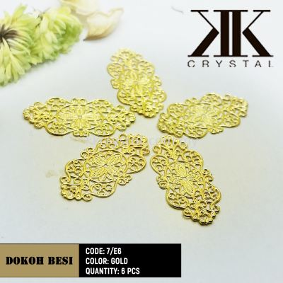 Dokoh Besi, Code: 7/E6, Gold Plated, 6pcs/pack (BUY 1 GET 1 FREE)
