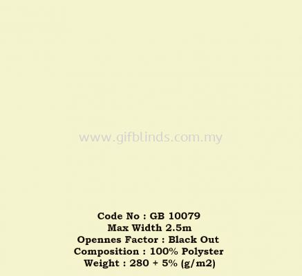 Fire Retardant Black Out Roller Sample GB10079
