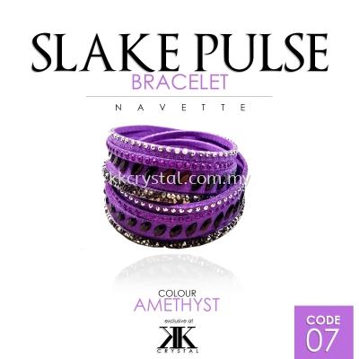 Slake Pulse Bracelet, Navette, 07# Amethyst