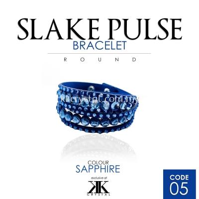 Slake Pulse Bracelet, Round, 05# Sapphire