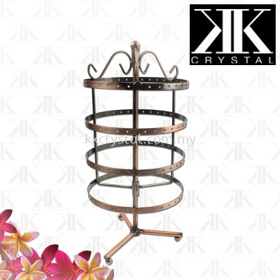 Displays, Earring Display Rack, Copper, Metal, Round 28cm