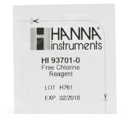 HI38018-200 Free Chlorine (Low and Medium Range) Test Kit Replacement Reagents (200 tests)