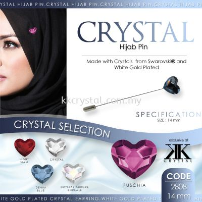 Pin Hijab Made With Crystals from Swarovski®, 2808 14mm