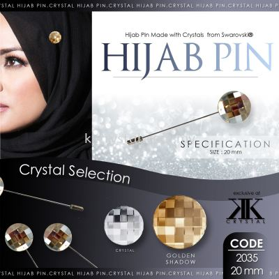 Pin Hijab Made With Crystals from Swarovski®, 2035 20mm