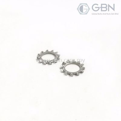 External Tooth Lock Washers DIN 6797 (A)