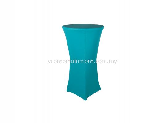 Turquoise Spandex Hi Bar Table Cover
