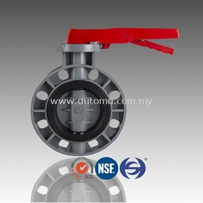 "HS PVC Butterfly Valve, Hand Lever 2~8"", Gearbox 10~12"" #A2HS3"