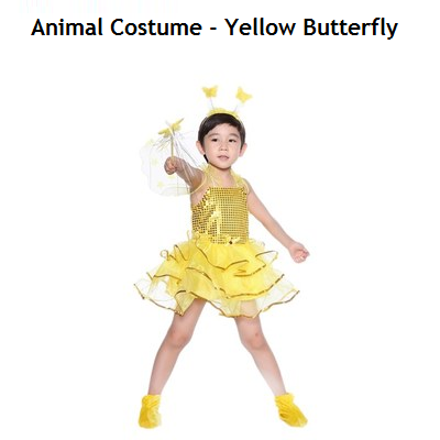 Animal Costume - Yellow Butterfly (Pre-Order 2 Week)