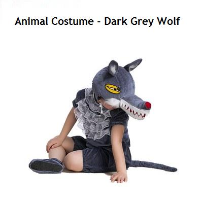 Animal Costume - Dark Grey Wolf (Pre-Order 2 Week)
