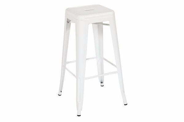 Basic White High Bar Stool