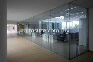 Tempered glass wall 1
