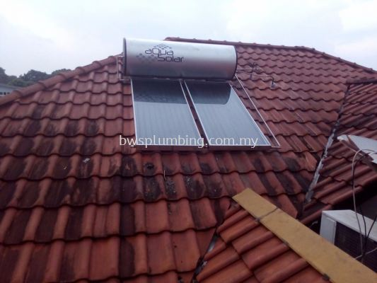 Aqua Solar Water Heater Installation