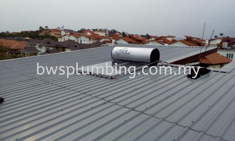 Aqua Solar Water Heater with piping Installation Sepang, Negeri Sembilan |  Aquasolar Solar Water Heater Repair & Service BWS Customer Service Centre