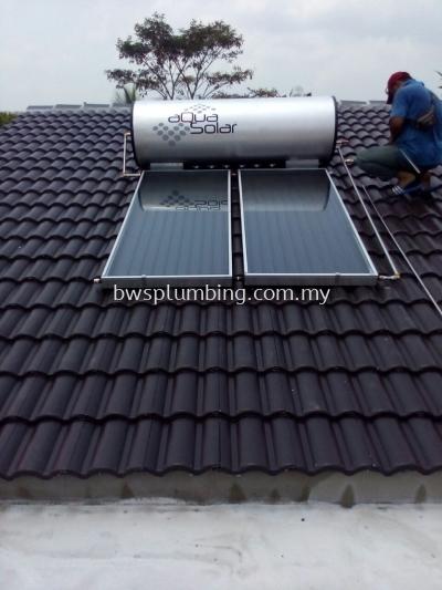 Sri Petaling, Selangor | Aqua Solar Water Heater Installation