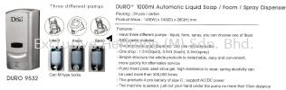 DURO 9532 MANUAL & AUTO DISPENSER Soap Dispenser and Toilet Seat Sanitizer Dispenser