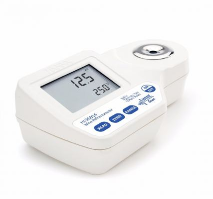 HI96814 Digital Refractometer for % Brix, ��Oe and ��KMW Sugar Analysis in Wine, Juice and Must