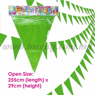 Triangle Banner Lime Green (P-BNT-LG)