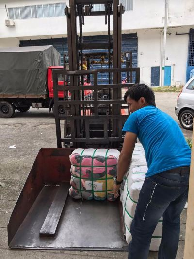 12.07.2017 Loading bundle to customer's lorry