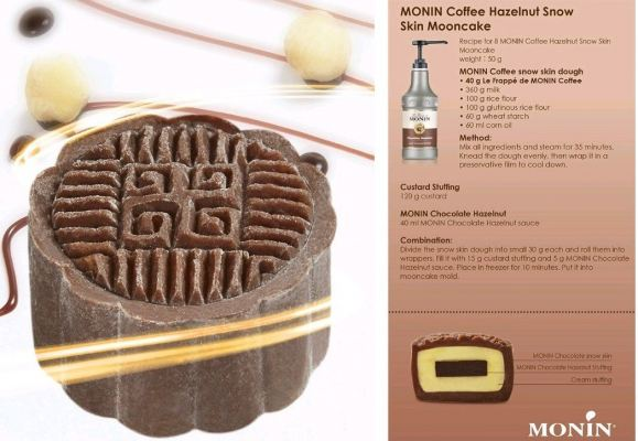 MONIN COFFEE HAZELNUT SNOW SKIN MOONCAKE