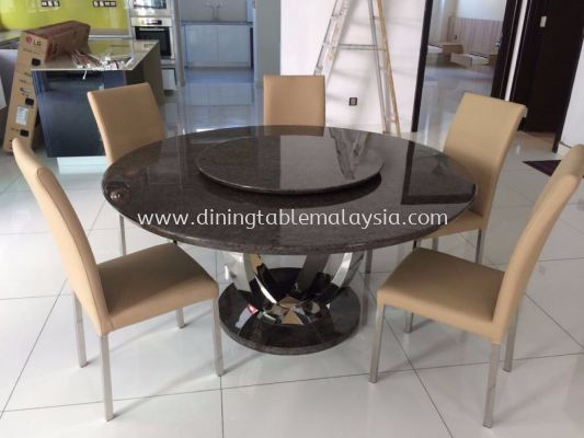 Bangalow Marble Dining Table - Black Marble