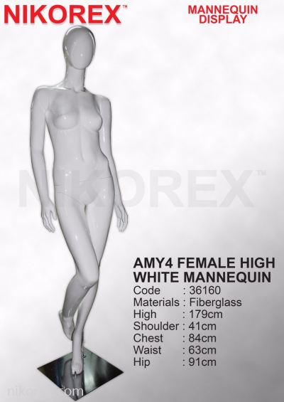 36160-AMY4 FEMALE HIGH WHITE MANNEQUIN