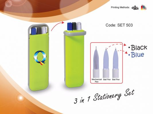 Pen Case SET 503- 3 in 1 Stationery Set
