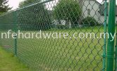 Green PVC Chain-link Fence  PVC Chain-link Fence  Chain-Link Fence