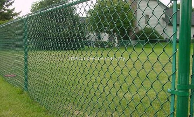 Green PVC Chain-link Fence