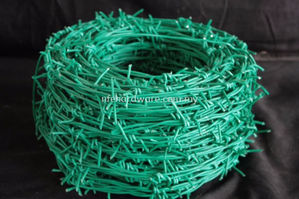 Green PVC Barbed Wire