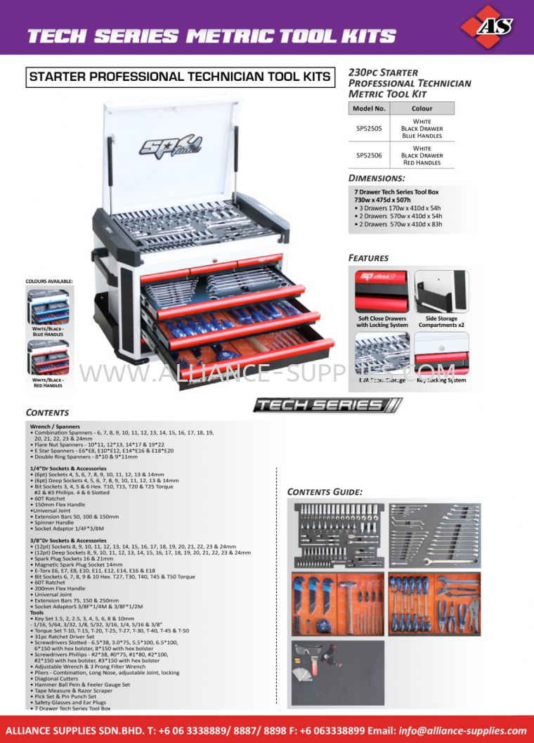 SP Tech Series Tool Kits 2.02 SP Tool Kits 02.SP TOOLS