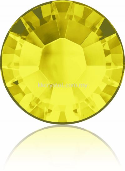 Swarovski Flat Backs Hotfix, 2038 SS12, Citrine A HF (249), 144pcs/pack