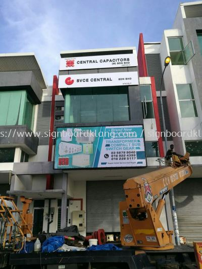 Central Capacitors Sdn Bhd zig zag billboards and EG box up signage install at Hicom shah alam