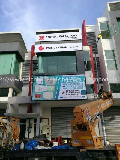 Central Capacitors Sdn Bhd zig zag billboards and EG box up signage install at Hicom shah alam