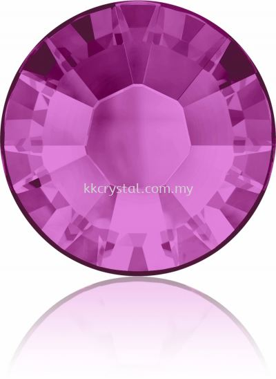 Swarovski Flat Backs Hotfix, 2038 SS30, Fuchsia A HF (502), 36pcs/pack