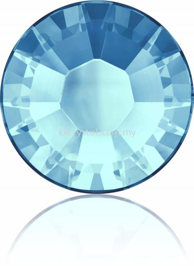 Swarovski Flat Backs Hotfix, 2038 SS30, Aquamarine A HF (202), 36pcs/pack