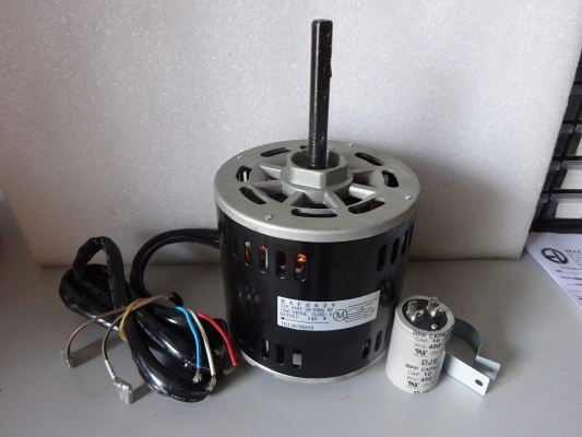 YORK HAF-062 (1PH 1/4HP 140W 6P) INDOOR FAN MOTOR C/W 10UF CAPACITOR - (DCP08, 14, 16)