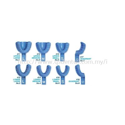 41x- Disposable Impression Tray with Rim Lock