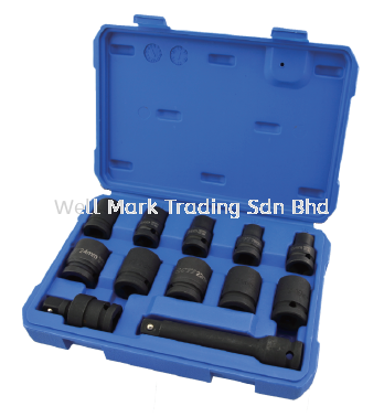 12Pcs 12.5MM Dr Impact Socket Set