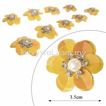 Handmake Flower, Code: 63#, Color 5#, 10pcs/pack