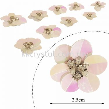 Handmake Flower, Code: 61#, Color 57#, 10pcs/pack