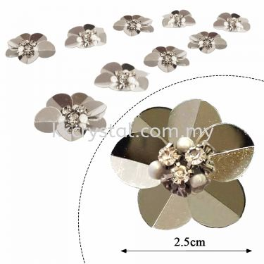 Handmake Flower, Code:  61#, Color 6#, 10pcs/pack