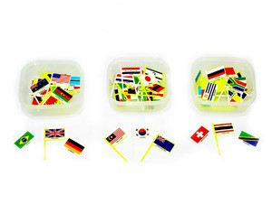 Magnetic Flags (Assorted) of The World OUT of STOCK (CM012)