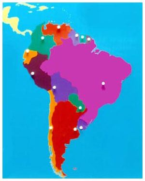 South America Puzzle Map (CM060)