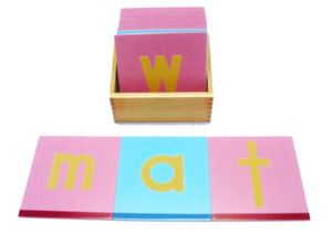 Sandpaper Letters (Wooden) and Box (LM020-W)