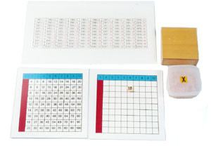 Multiplication Working Chart and Answer Charts & Plastic Box for Tiles (MM 250-S)