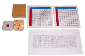 Addition Working Chart and Answer Charts & Plastic Box for Tiles (MM230-S)