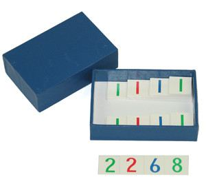 Small Number Cards + Blue Box (MM070-S)