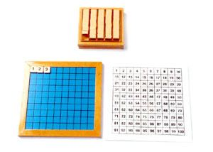 Hundred Board with Control Chart & Tile Box (MM190)