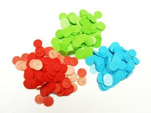 Counters (100Pcs - Either Red Blue Green) (MSC010)