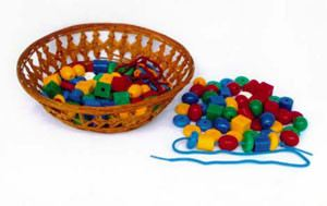 Threading Beads (PL110) Practical Life Montessori, Materials, Supplier, Supply  ~ D'Argosy Educational Equipment (M) Sdn Bhd